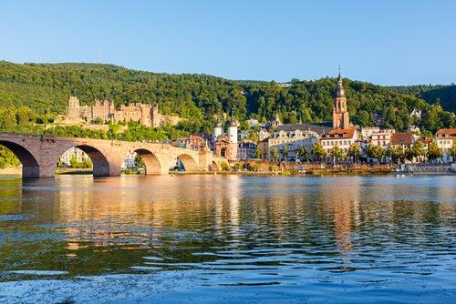 Río Neckar en Heidelberg