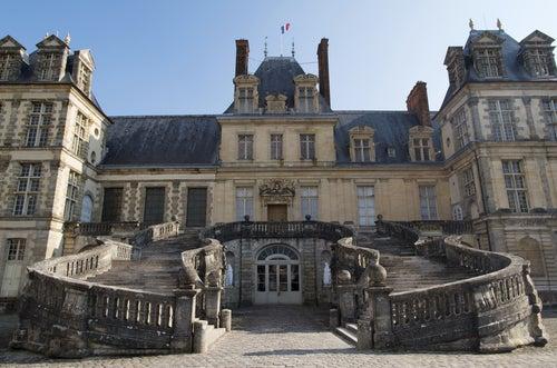 Escalera del Palacio de Fontainebleau