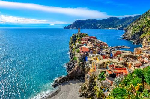 Vista de Vernazza en Italia