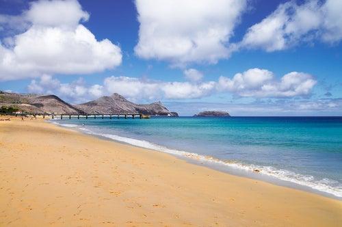 Playa de Portosanto en Madeira