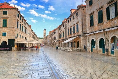 Calle Stradun en Dubrovnik