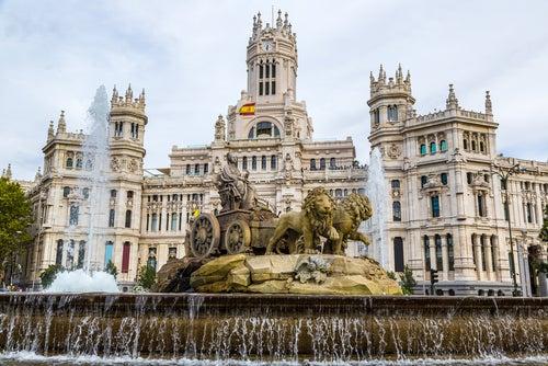 Fuente de la Cibeles en Madrid