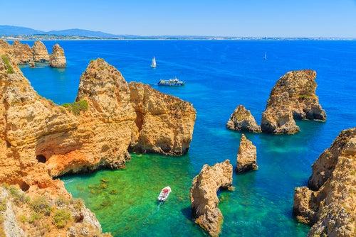 Ponta de Piedade en el Algarve