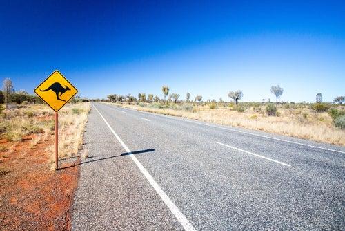 Señalización en Uluru Australia