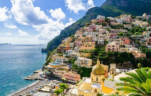 Positano en Italia, un pueblo sobre la piedra