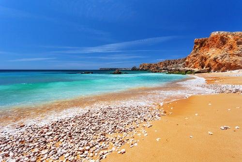 Playa de Sagres en el Algarve