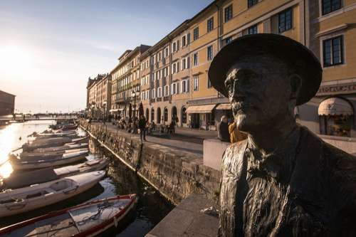 Estatua de James Joyce en Trieste