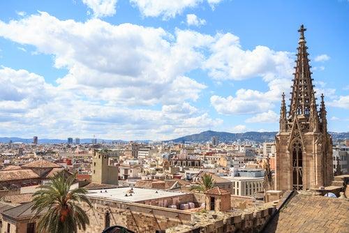Terraza de la catedral de Barcelona
