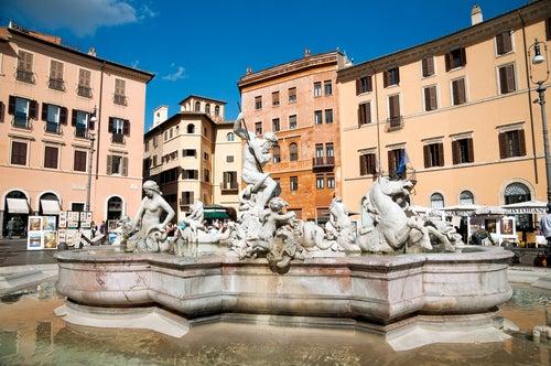 Fuente de Neptuno en Piazza Navona
