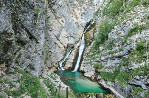Cascada Savica en Eslovenia