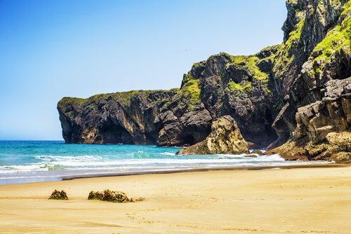 Playa Andrín en Llanes