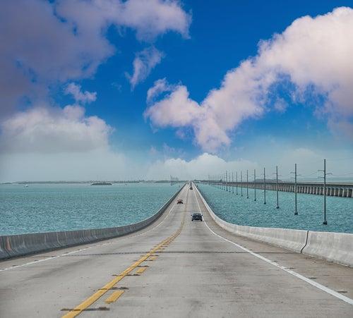 Carretera de Ultramar en los Cayos de Florida