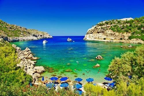 Playa en Rodas