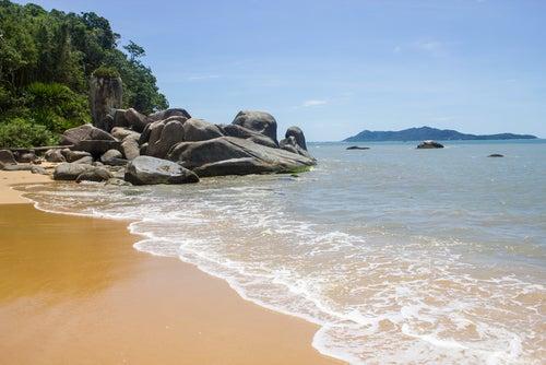 Playa de Bombinhas en Santa Catarina
