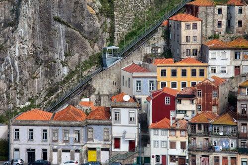 Funicular dos Guindais en Oporto