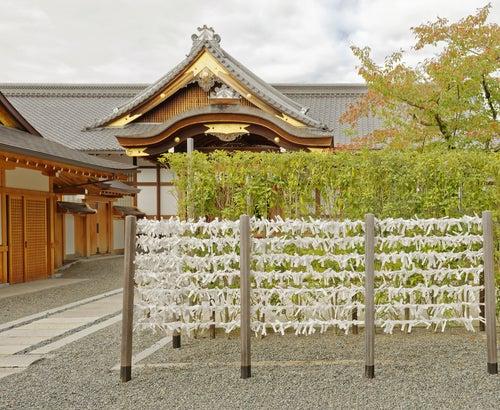 Papeles de la suerte en Fushimi Inari