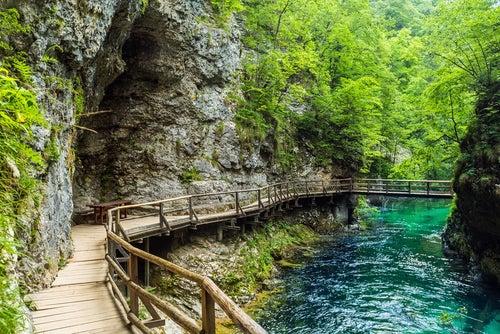 Garganta Vintgar en Eslovenia