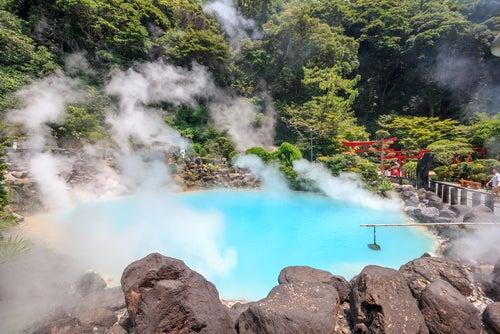 Baños termales en Oita Japón