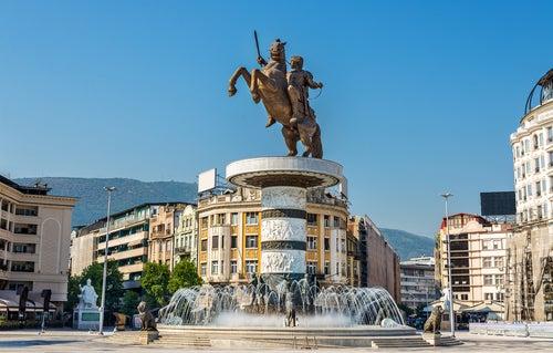 Fuente de Alejandro Magno en Skopje