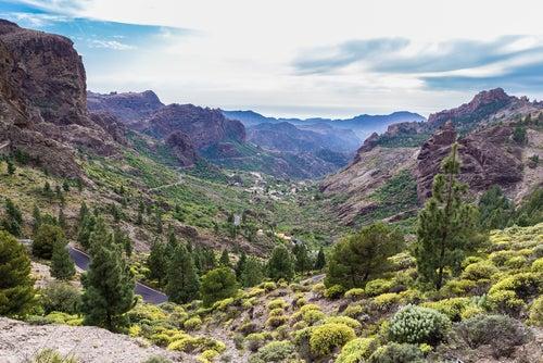 Montañas de Inaugua en Gran Canaria