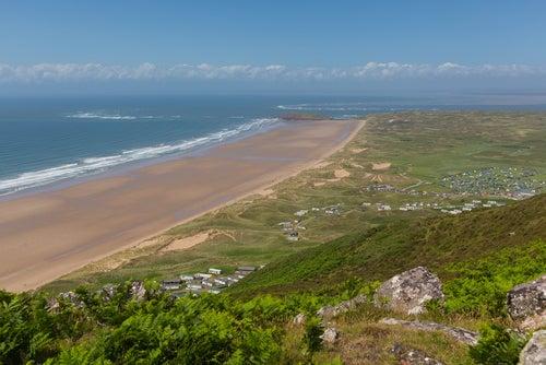 Playa de Rhossili en Gales