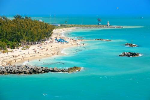 Los paisajes tropicales de los Cayos de Florida