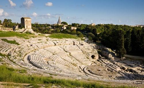 Antiteatro griego en Siracura Sicilia