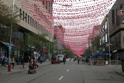 Rue Saint Catherine en Montreal