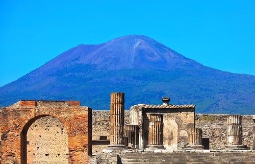 Volcán Vesubio en Italia