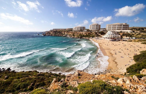 Golden Bay Beach en Malta