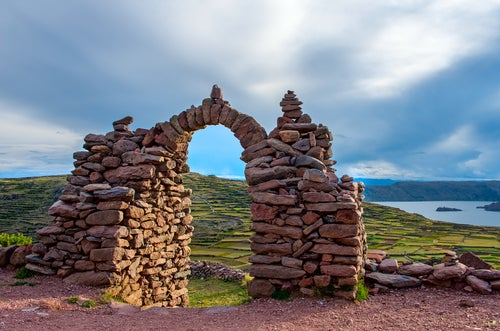Templo Pacahatata en el lago Titicaca