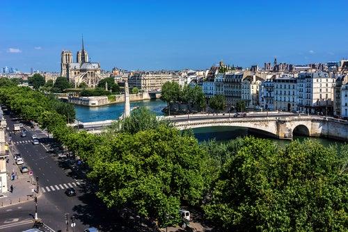Terrasse del IMA en París