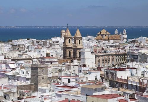 Vistas de Cádiz desde la torre Tavira
