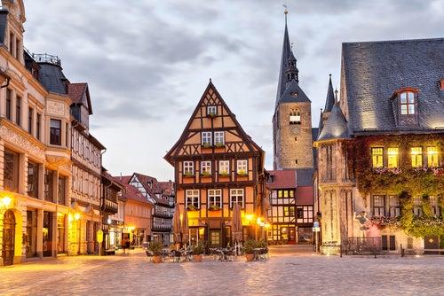 Quedlinburg en Alemania y sus bellas casas entramadas