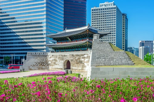 Puerta de Nandaemun en Seúl