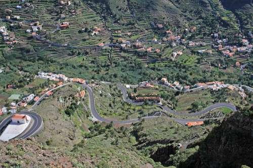 Vista desde el mirador Palmarejo en La Gomera