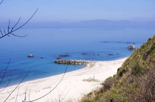 Playa de Parghelia en la Costa de los Dioses