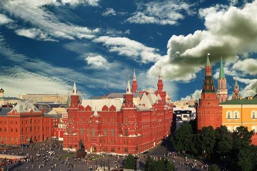 Edificios Plaza Roja en Moscú.