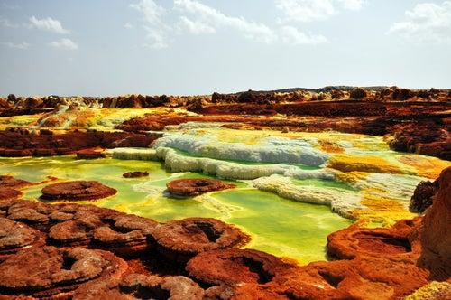 Dallol en Etiopía