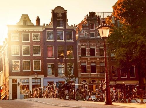 Barrio de Jordaan en Ámsterdam
