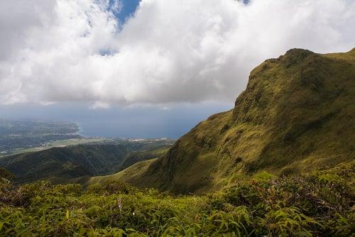 La Montagne Pelee en Martinica