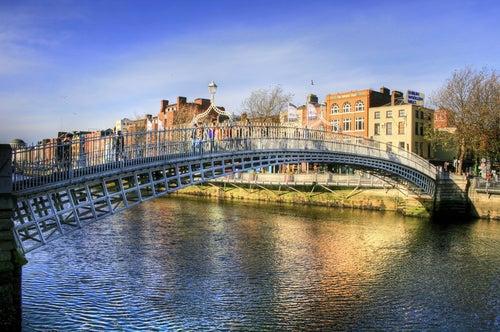 Ha'Penny Bridge en Dublín