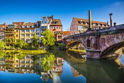El encanto de Núremberg en Alemania