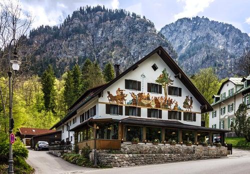 Oberammergau en Alemania y sus fachadas pintadas