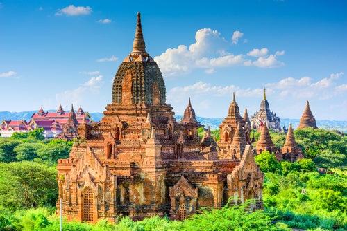 Templos de Bagan en Birmania