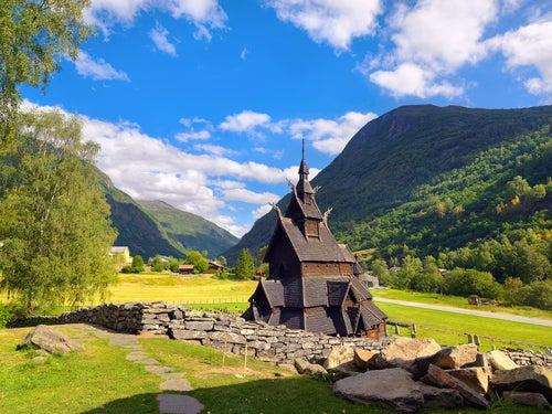 Iglesia de Borgund en Noruega