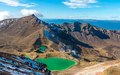 Parque Nacional Tongariro en Nueva Zelanda
