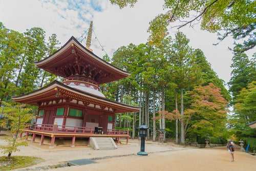 Templo en Koyasan en Japón
