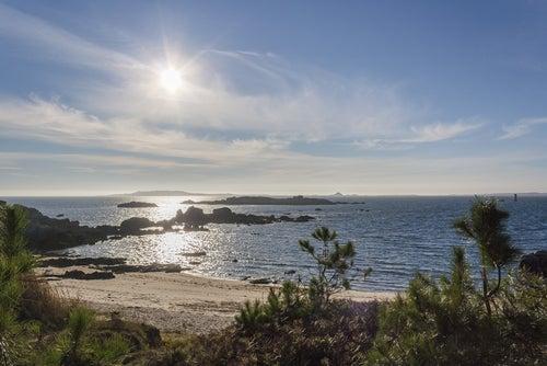 Playa de Corbeiro en Galicia