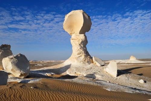 El increíble Desierto Blanco en Egipto